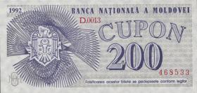 Moldawien / Moldova P.02 200 Cupon 1992 (1)