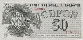 Moldawien / Moldova P.01 50 Cupon 1992 (1)