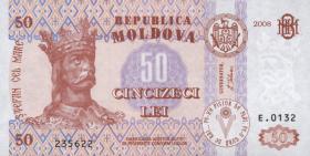 Moldawien / Moldova P.14e 50 Lei 2008 (1)