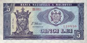 Moldawien / Moldova P.06 5 Lei 1992 (1)