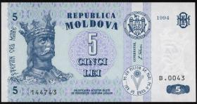 Moldawien / Moldova P.09a 5 Lei 1994 (1)