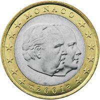 Monaco 1 Euro 2001