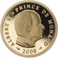 Monaco 20 Euro 2008 Albert II. Gold