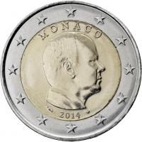 Monaco 2 Euro 2014 Kursmünze