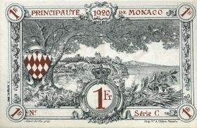 Monaco P.05b 1 Franc 1920  (1)