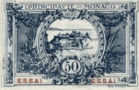 Monaco P.03s 50 Centimes 1920 Specimen / Essai (1)