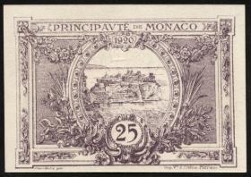 Monaco P.02b 25 Centimes 1920 lila (1)