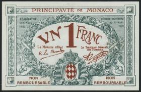 Monaco P.05s 1 Franc 1920 Specimen (1)