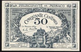 Monaco P.03a 50 Centimes 1920 (1)