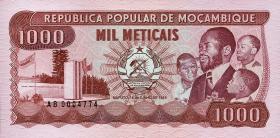 Mozambique P.132a 1000 Meticais 1983 (1)