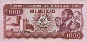 Mozambique P.132c 1000 Meticais 1989 (1)