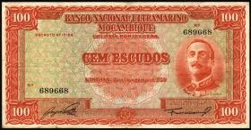 Mozambique P.103 100 Escudos 1950 (3)