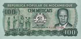 Mozambique P.130 100 Meticais 1983-89 (1)