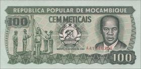Mozambique P.130c 100 Meticais 1989 (1)