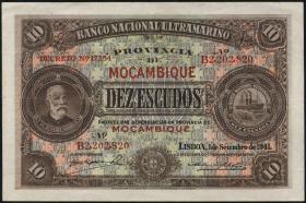 Mozambique P.084 10 Escudos 1941 (2)