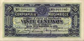 Mozambique P.R29 20 Centavos 1933 (1)