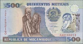 Mozambique P.134 500 Meticais 1991 (1)