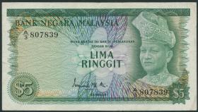 Malaysia P.02 5 Ringgit (1967-72) (3)