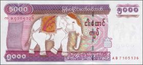 Myanmar P.81 5000 Kyats (2009) (1)