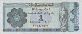 Myanmar P.FX1 1 Dollar (1993) (1)