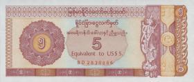 Myanmar P.FX2 5 Dollars (1993) (1)