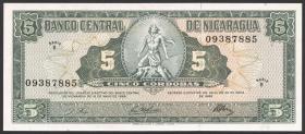 Nicaragua P.116 5 Cordobas 1968 (1)