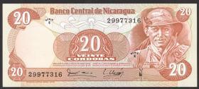 Nicaragua P.135 20 Cordobas 1979 (1)