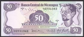 Nicaragua P.140 50 Cordobas L.1985 (1985) (1)