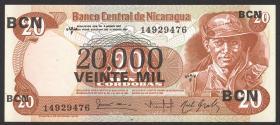 Nicaragua P.147 20000 Cordobas 1987 (1)