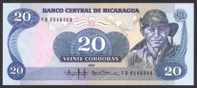 Nicaragua P.152 20 Cordobas 1985 (1988) (1)