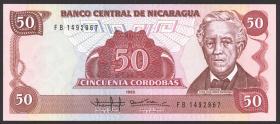 Nicaragua P.153 50 Cordobas 1985 (1988) (1)