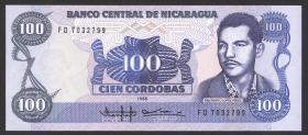 Nicaragua P.154 100 Cordobas 1985 (1)