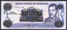 Nicaragua P.159 100.000 Cordobas (1989) (1)