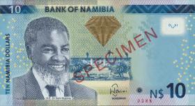 Namibia P.11 - 15 10 - 200 Namibia Dollars 2012 Specimen (1)