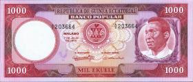 Äquatorial-Guinea P.13 1000 Ekuele 1975 (1)