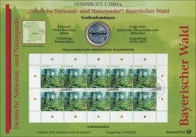 2005/1 Naturparke Bayerischer Wald - Numisblatt