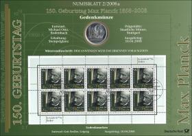 2008/2 Max Planck - Numisblatt