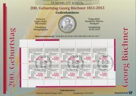 2013/4 200. Geburtstag Georg Büchner - Numisblatt