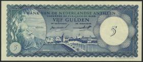 Niederl. Antillen / Netherlands Antilles P.01 5 Gulden 1962 (1)