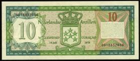 Niederl. Antillen / Netherlands Antilles P.16a 10 Gulden 1979 (1)