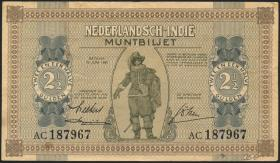 Ndl. Indien / Netherlands Indies P.109a 2 1/2 Gulden 1940 (3+)