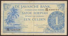 Ndl. Indien / Netherlands Indies P.098 1 Gulden 1948 (3)