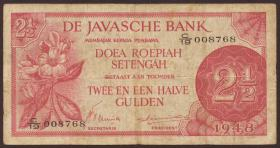 Ndl. Indien / Netherlands Indies P.099 2 1/2 Gulden 1948 (3-)