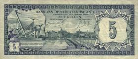 Niederl. Antillen / Netherlands Antilles P.08a 5 Gulden 1967 (3)