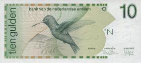 Niederl. Antillen / Netherlands Antilles P.23a 10 Gulden 1986