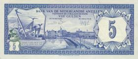 Niederl. Antillen / Netherlands Antilles P.15b 5 Gulden 1984