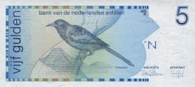 Niederl. Antillen / Netherlands Antilles P.22a 5 Gulden 1986 (1-)
