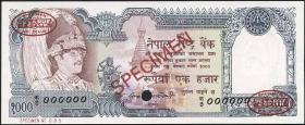 Nepal P.36as 1000 Rupien (1981) Specimen (1)
