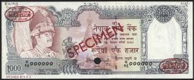 Nepal P.36csa 1000 Rupien (1981-) Specimen No.001 (1)