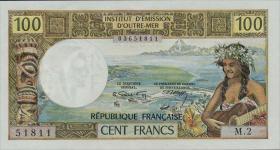 Neu Kaledonien / New Caledonia P.63b 100 Francs (1971) (1)